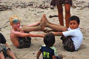 white boy caribbean boy